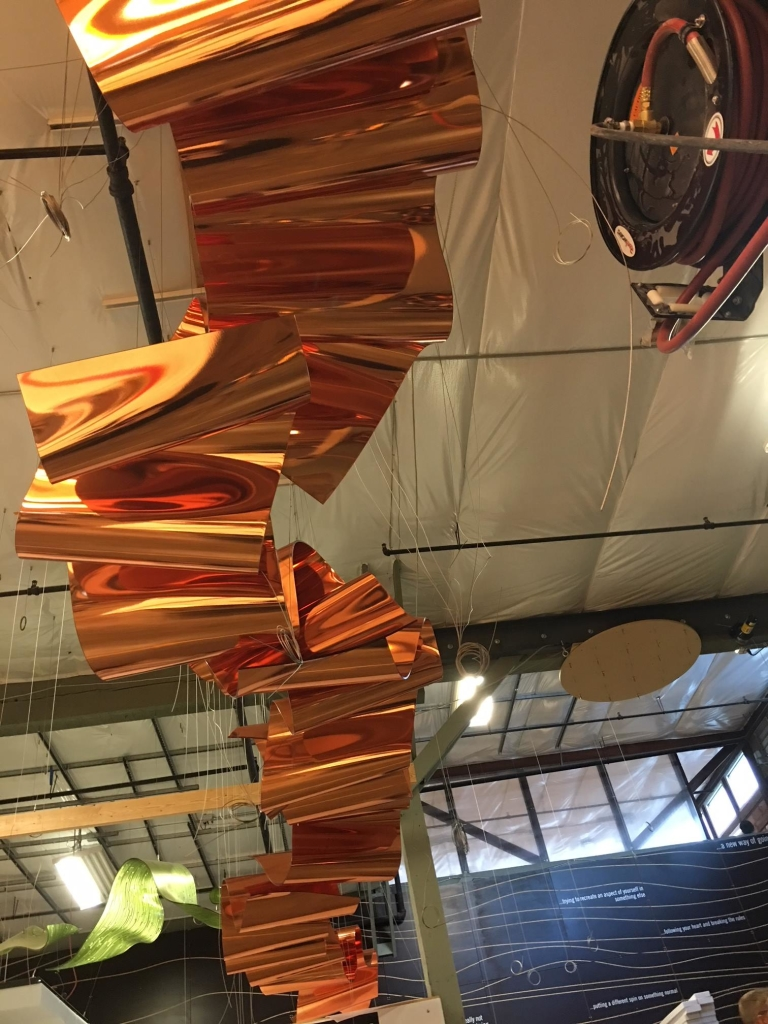 LightArt first installs all our large sculptural pieces in our shop. This helps to gauge size, structure and overall form.